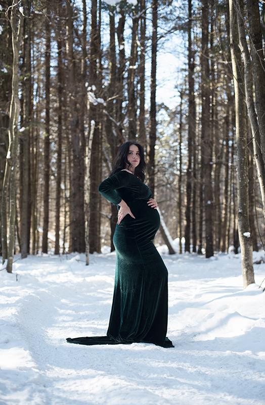 Séance photo maternité hiver